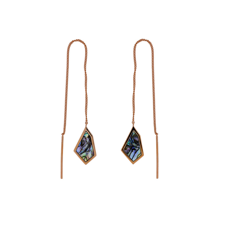 Abalone Pinnacle Threader Earrings