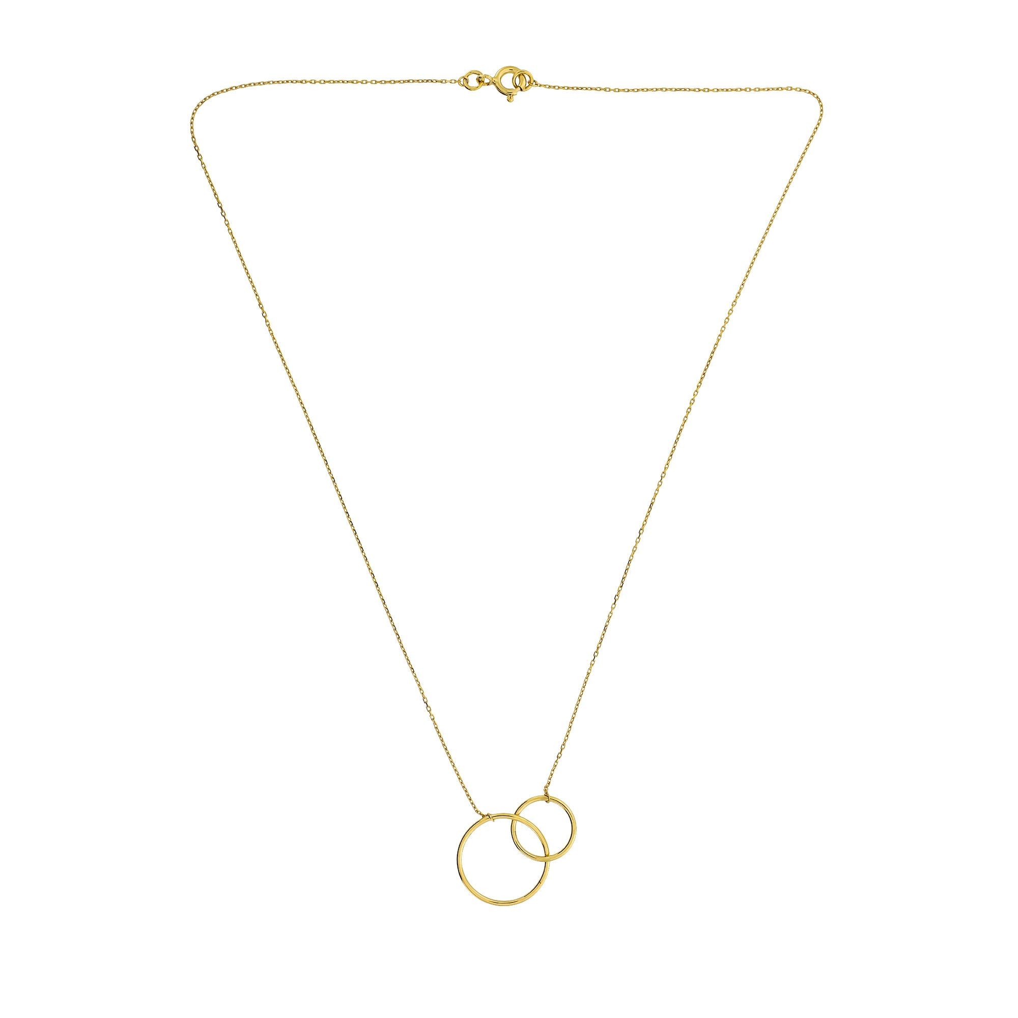 9ct Gold Interlocking Circles Necklace