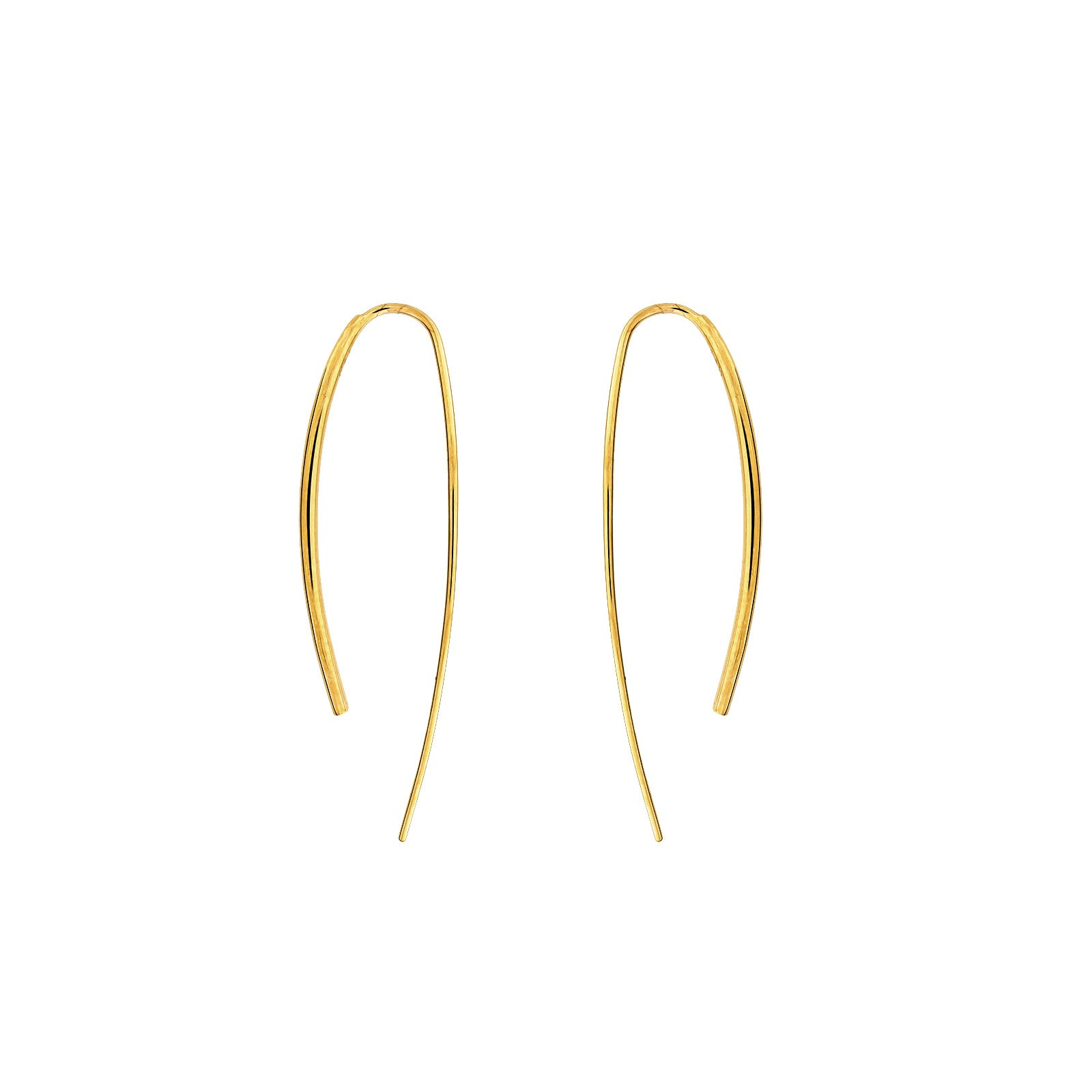 9ct Gold Hook-Through Earrings