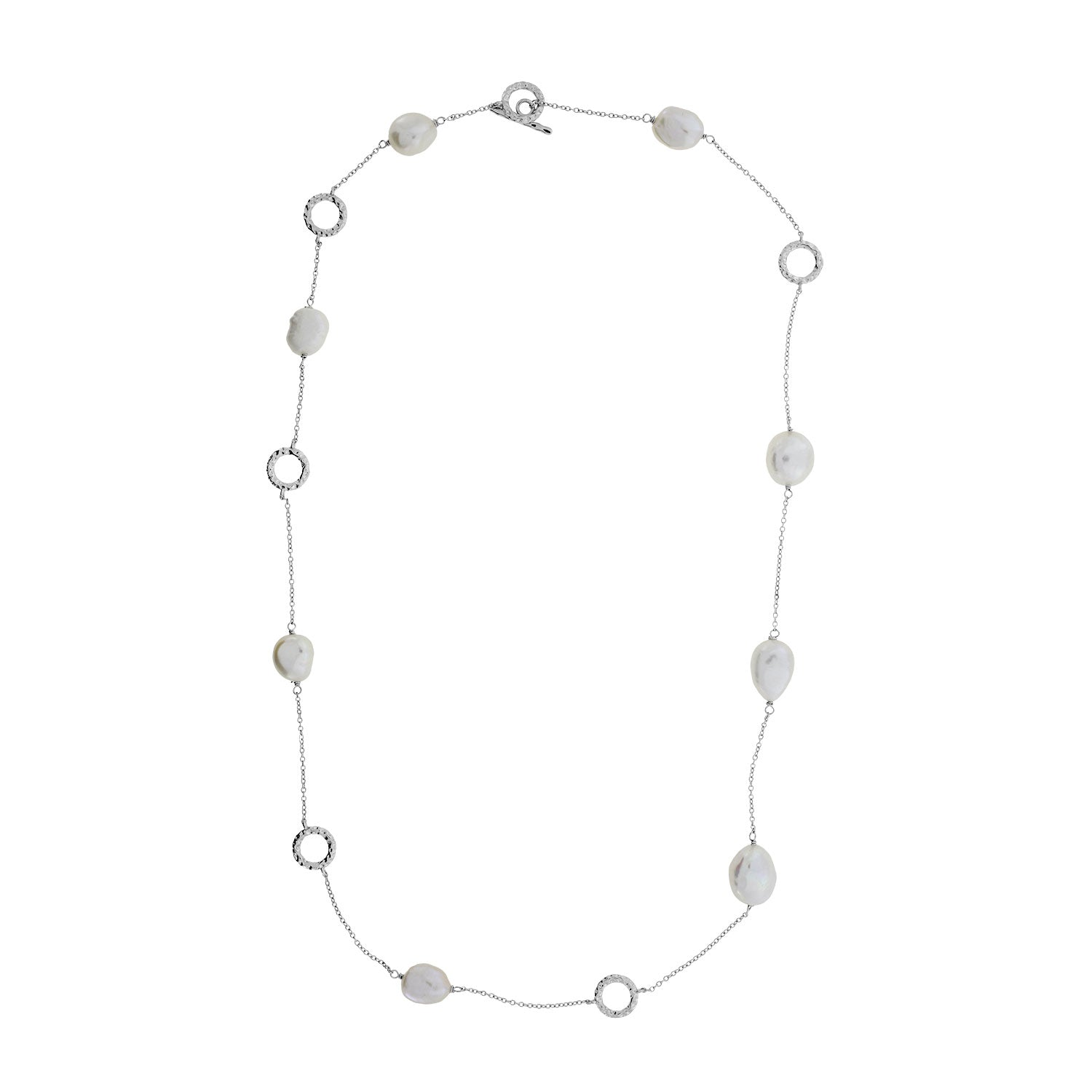 Baroque Pearl T-Bar Necklace
