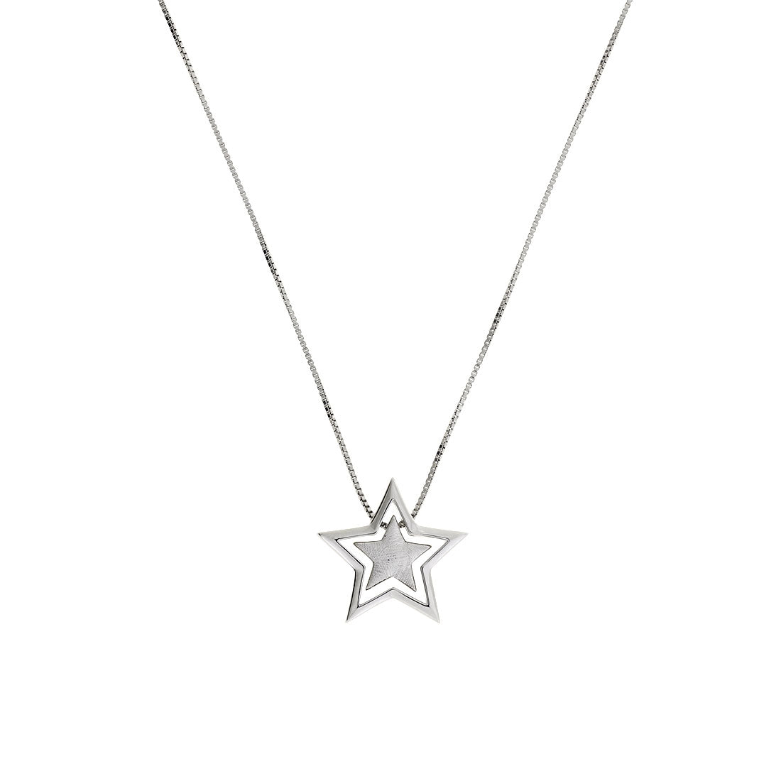 Silver Two-Part Star Pendant
