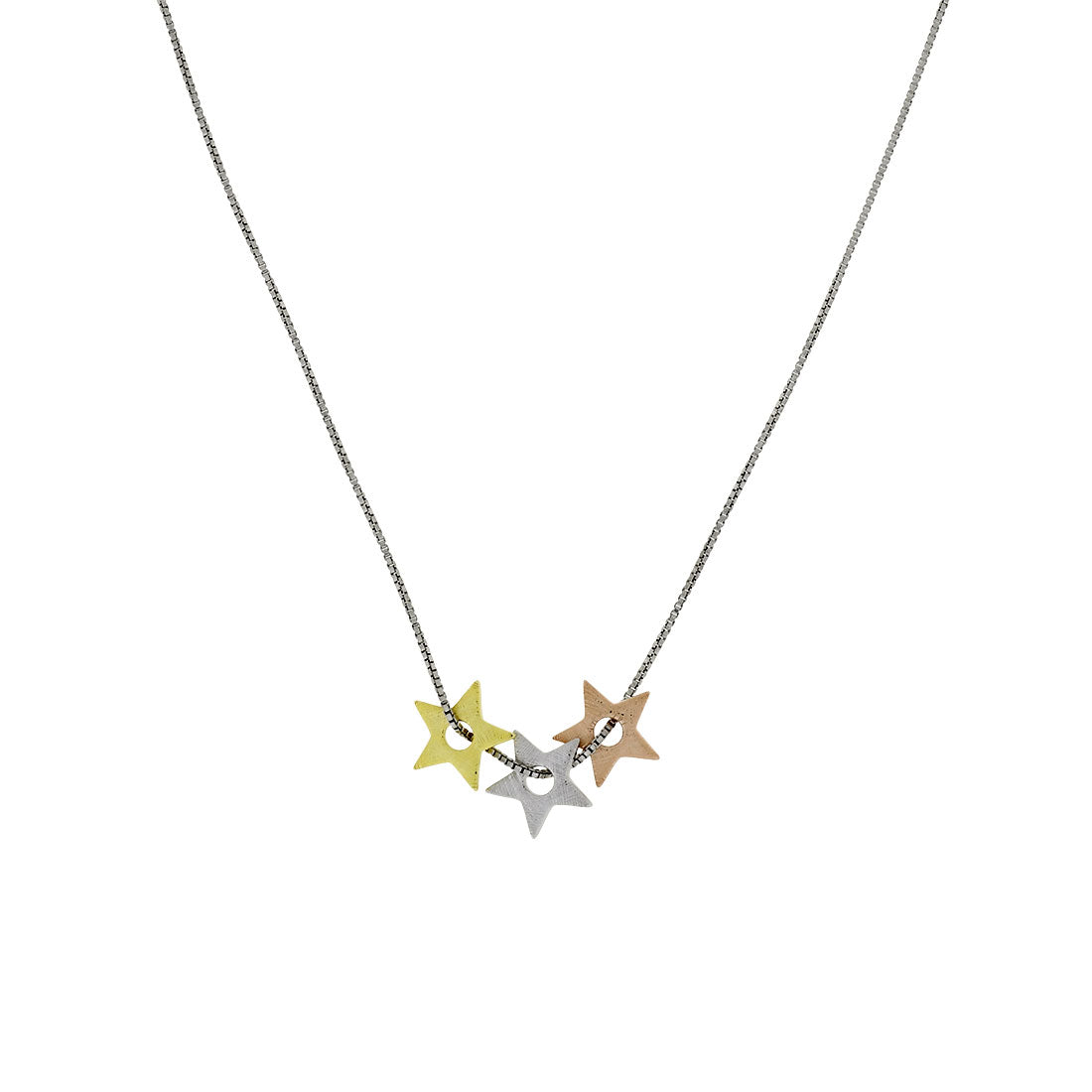 Three Colour Triple Star Pendant