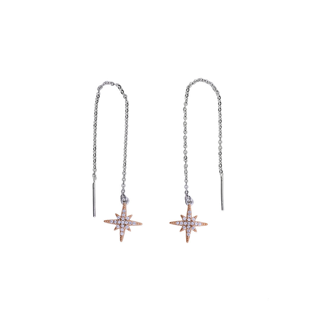 Rose Vermeil Pavé Star Pull-throughs