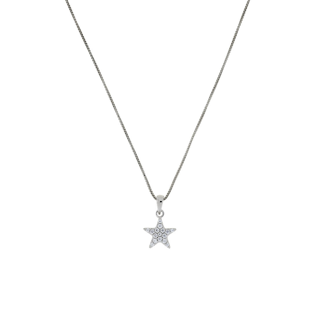Little Pavé Star Pendant - Silver