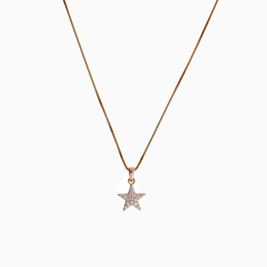 Little Pavé Star Pendant - Rose Vermeil