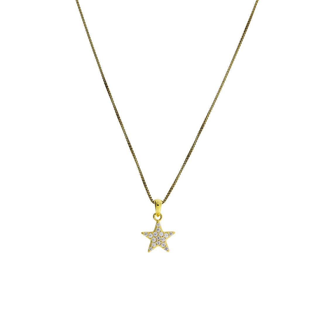 Little Pavé Star Pendant - Gold Vermeil