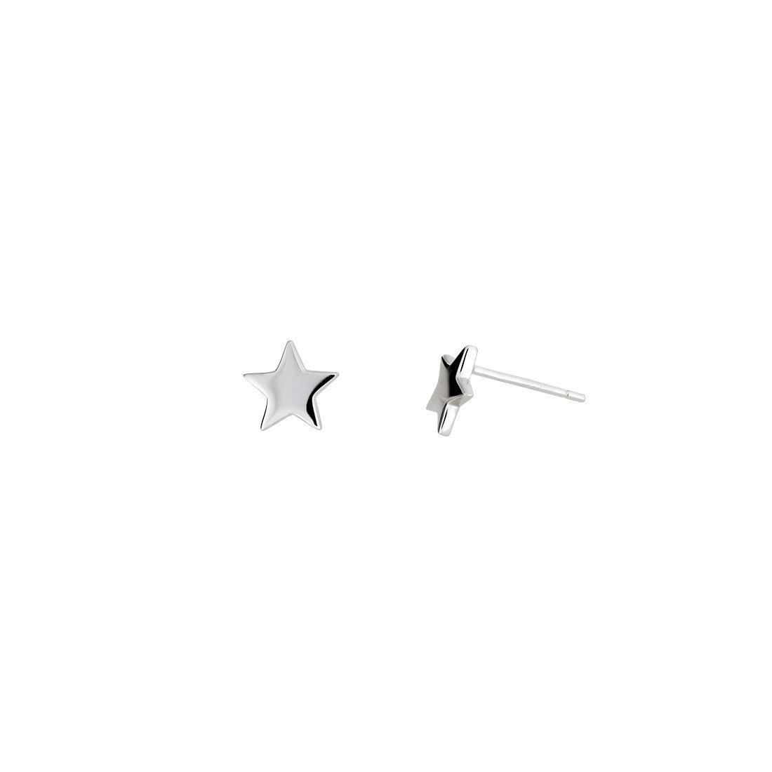 Little Star Stud Earrings - Silver
