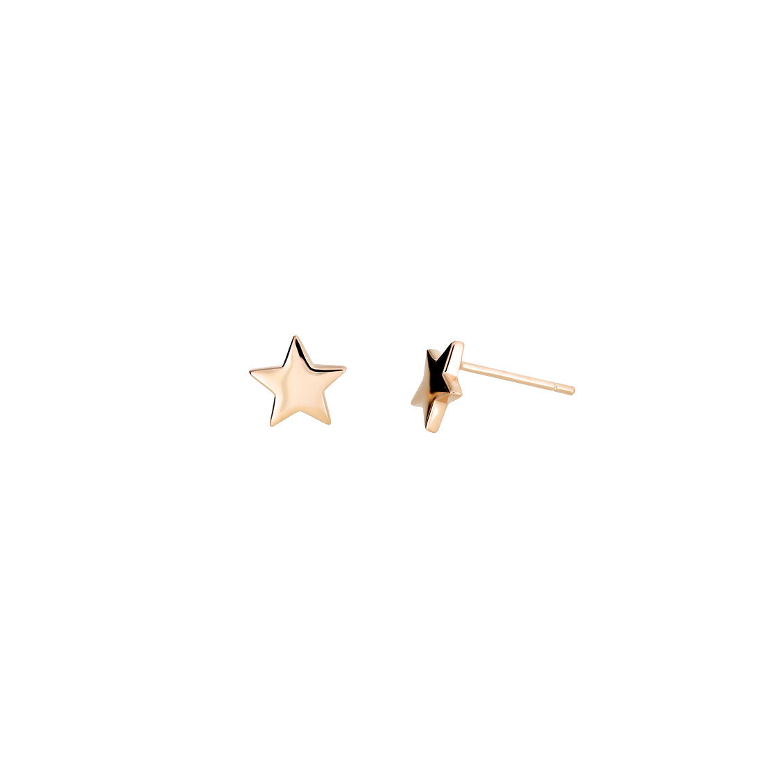 Little Star Stud Earrings - Rose Vermeil