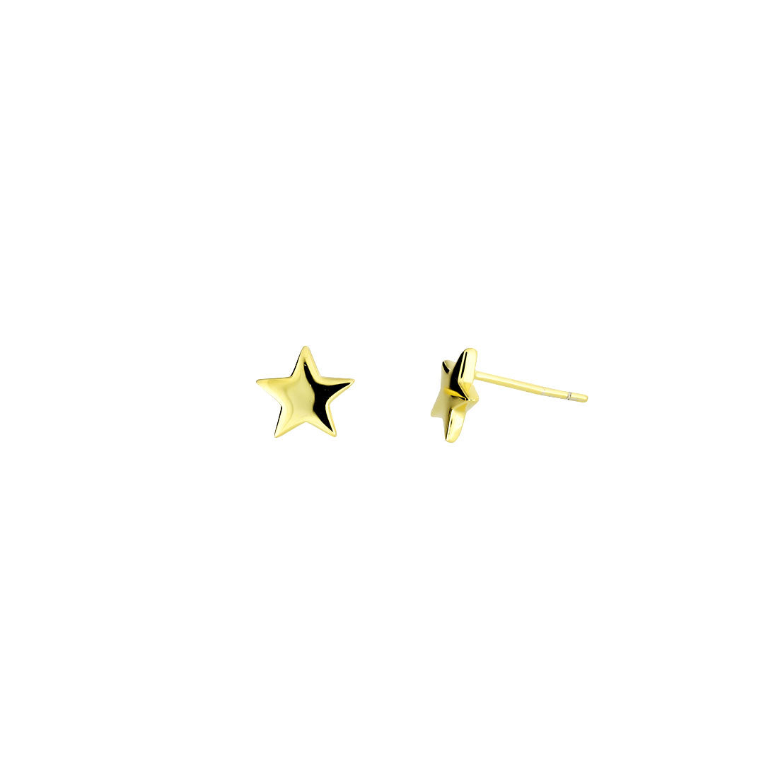 Little Star Stud Earrings - Gold Vermeil