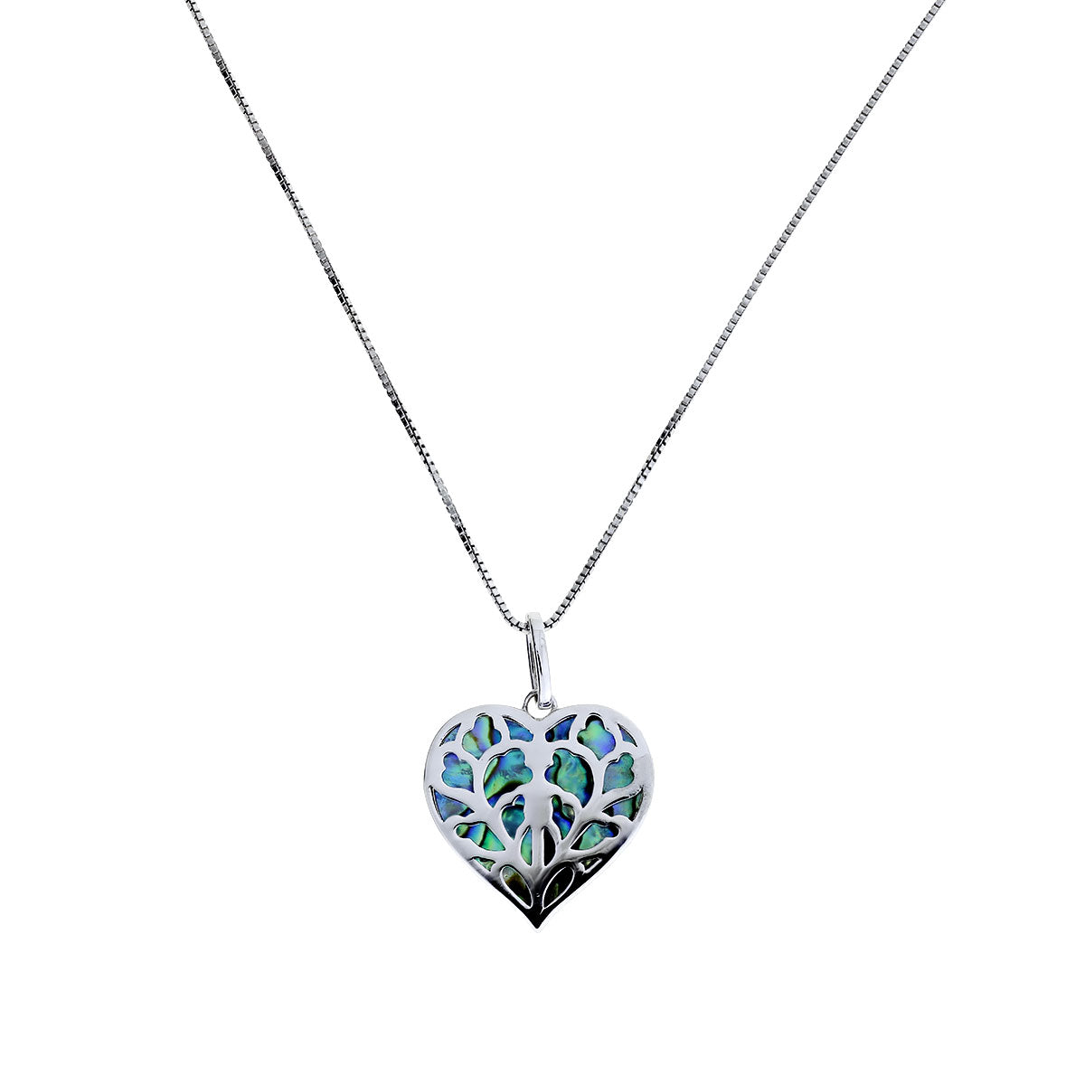 Silver Heart of Yorkshire Abalone Pendant