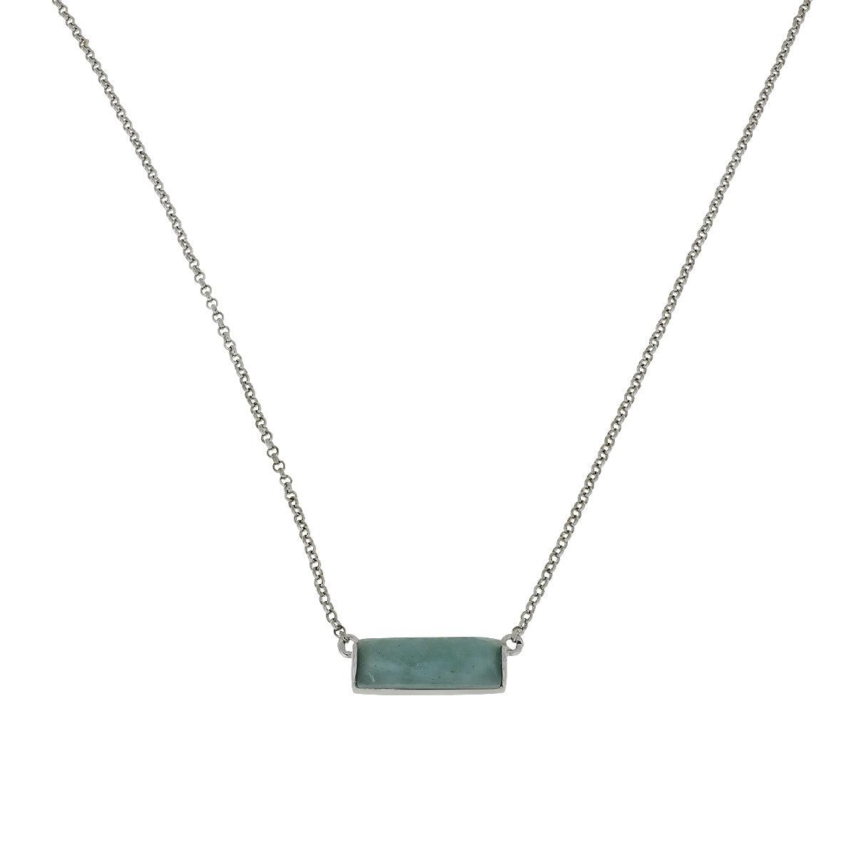 Silver Slim Amazonite Necklace