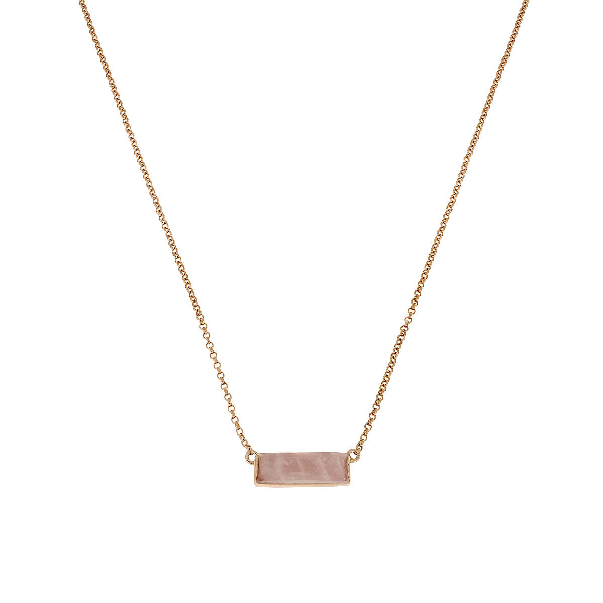 Rose vermeil Slim Rose Quartz Necklace