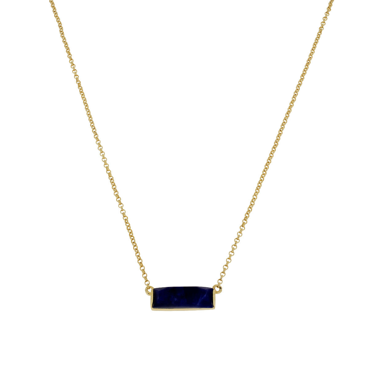 Gold vermeil Slim Sodalite Necklace