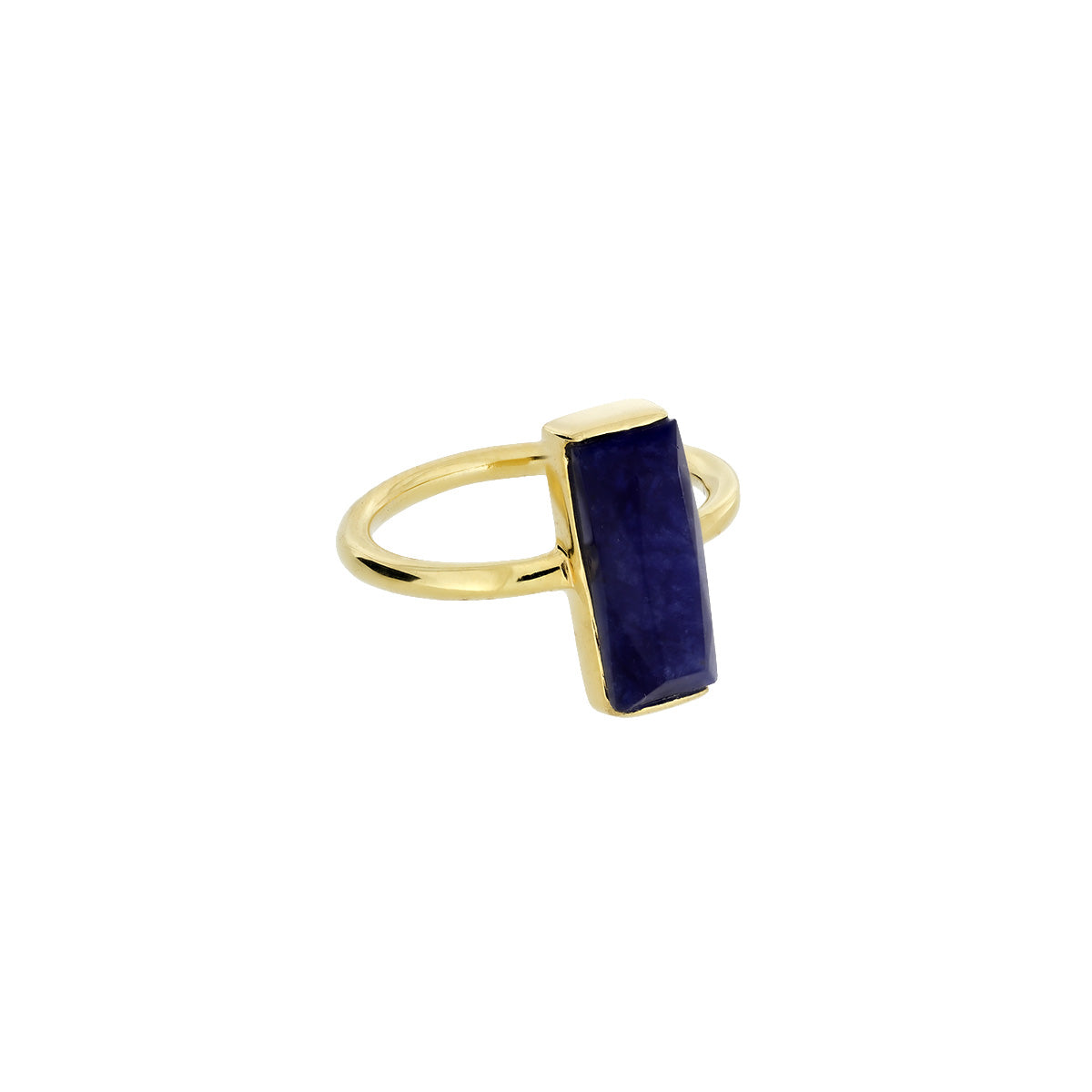 Gold Vermeil Sodalite Rectangle Ring