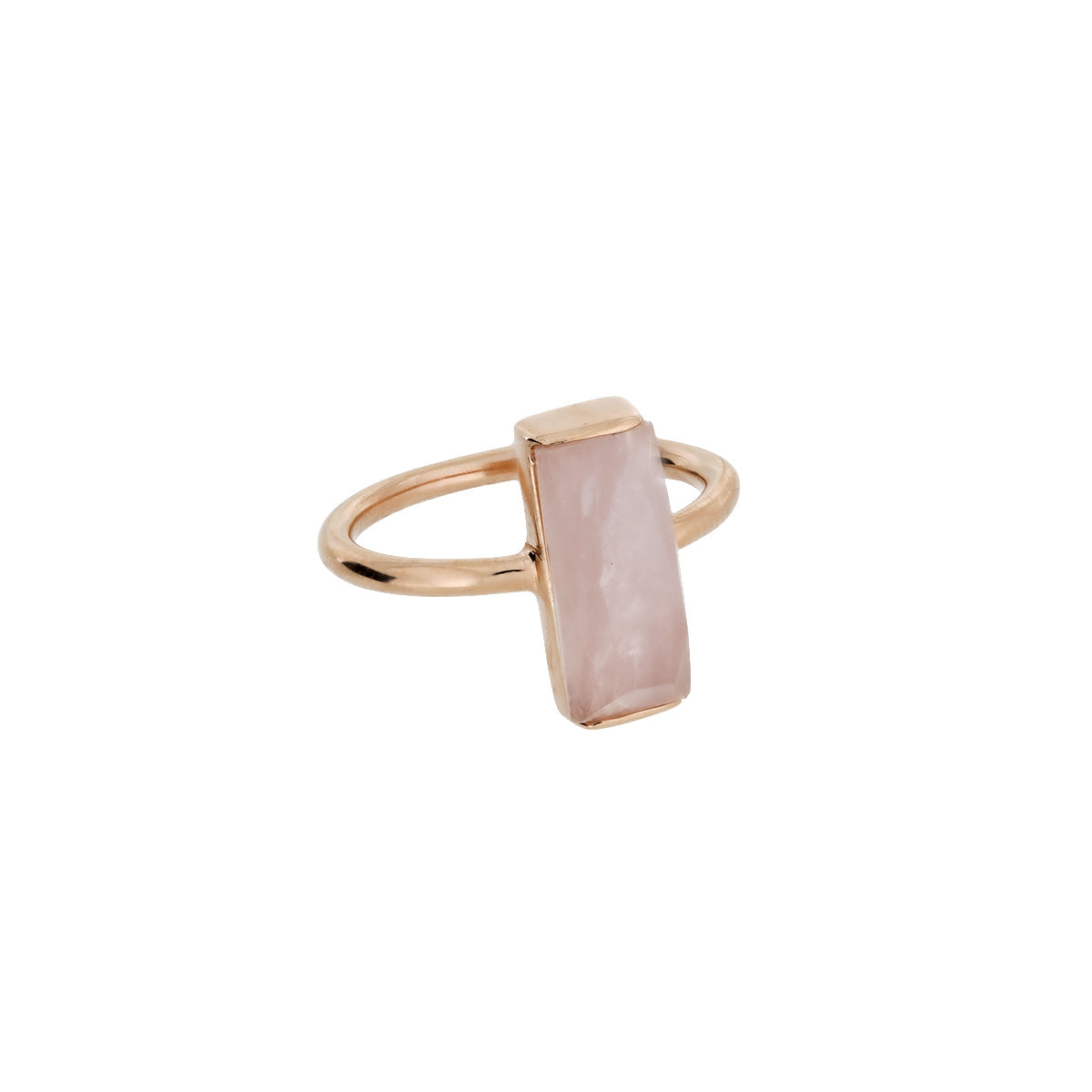 Rose Vermeil Rose Quartz Rectangle Ring