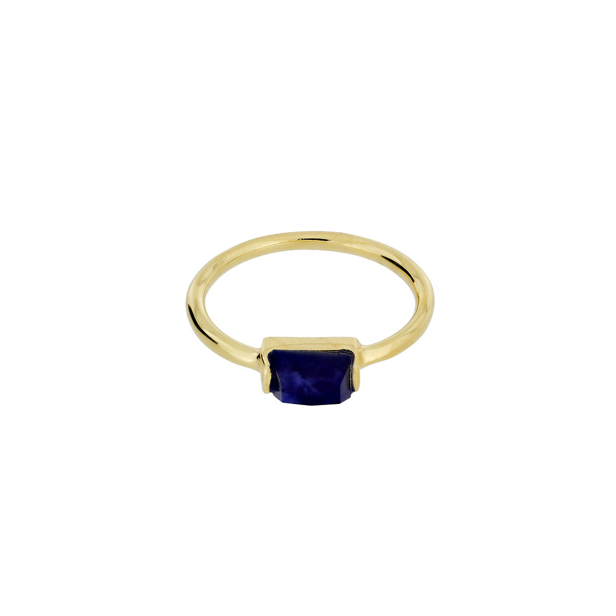 Gold Vermeil Sodalite Mini Ring