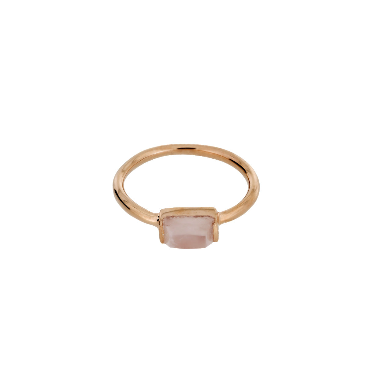 Rose Vermeil Rose Quartz Mini Ring