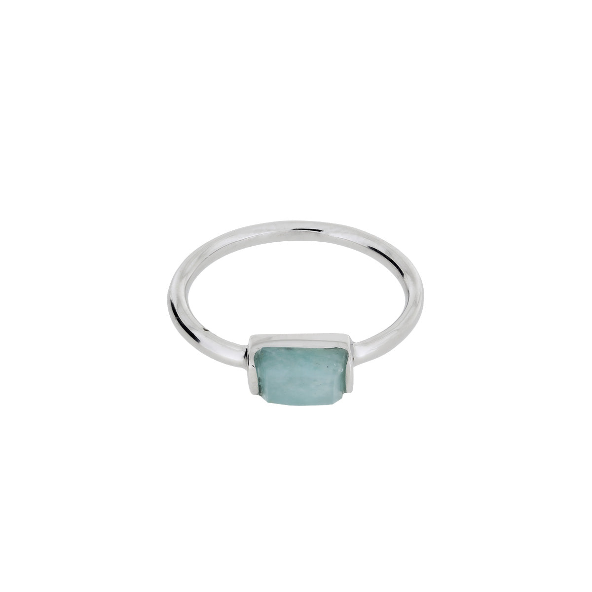 Silver Amazonite Mini Ring
