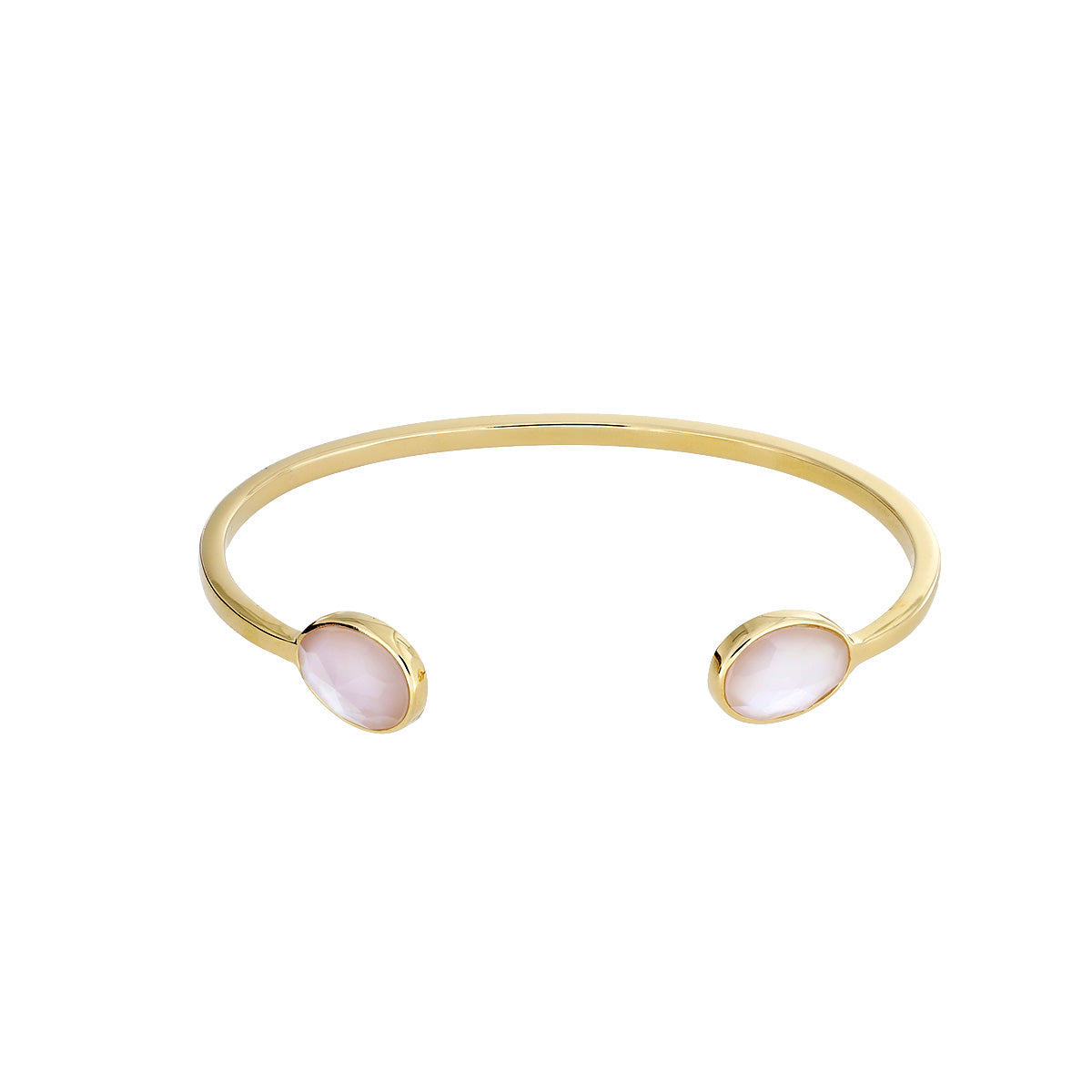 Gold Vermeil & Mother of Pearl Teardrops Cuff