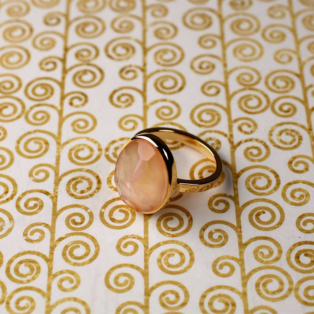 Gold Vermeil & Mother of Pearl Ring