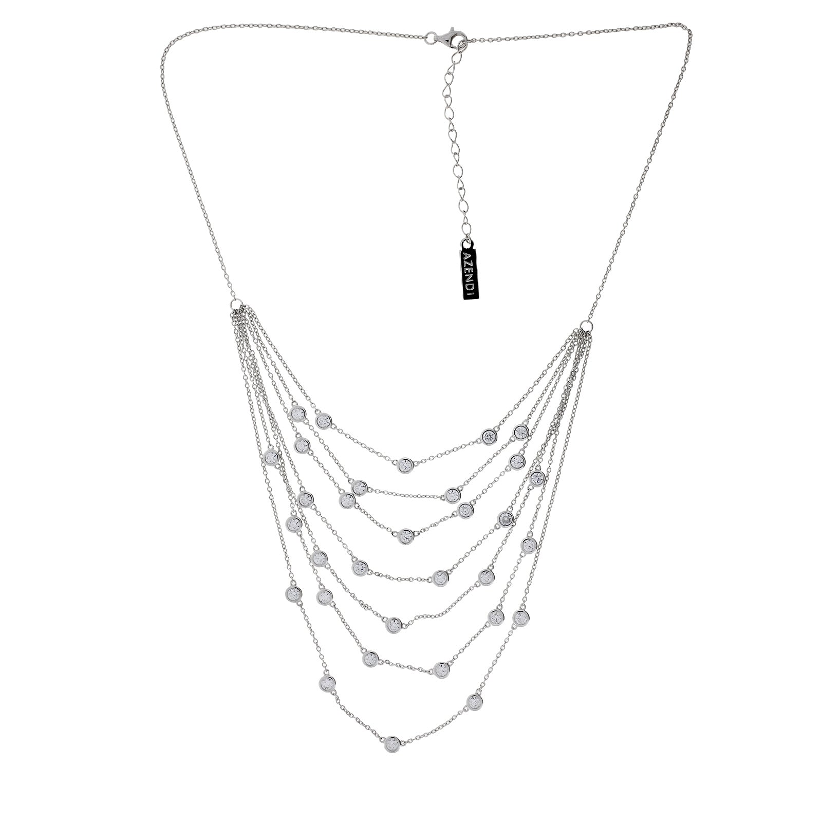 Seven Layer Sparkling Necklace