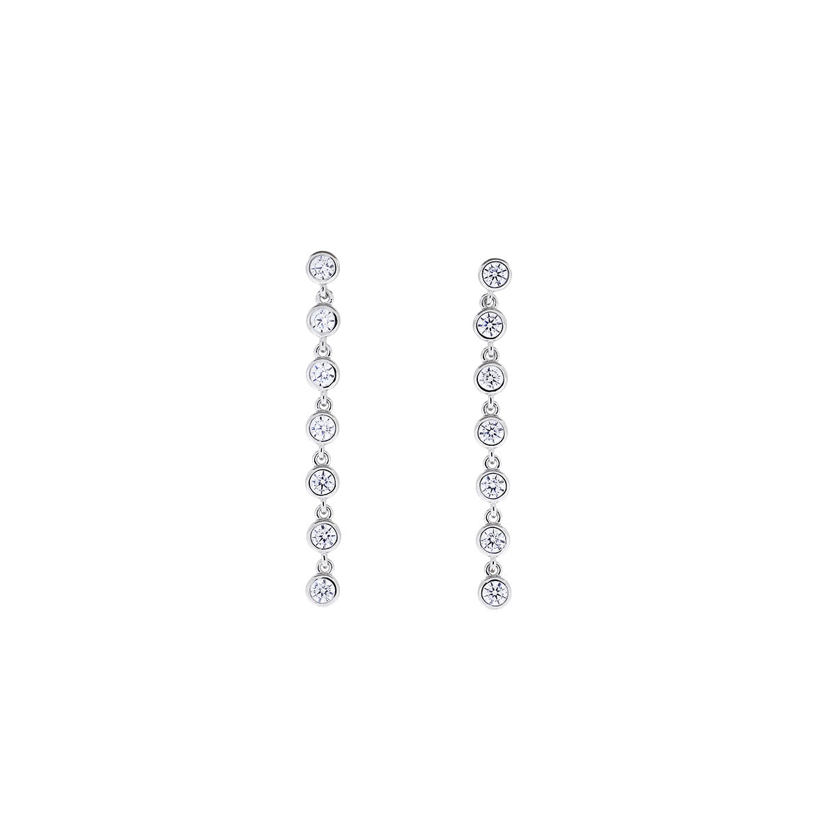 Seven Stones Sparkling Drop Earrings