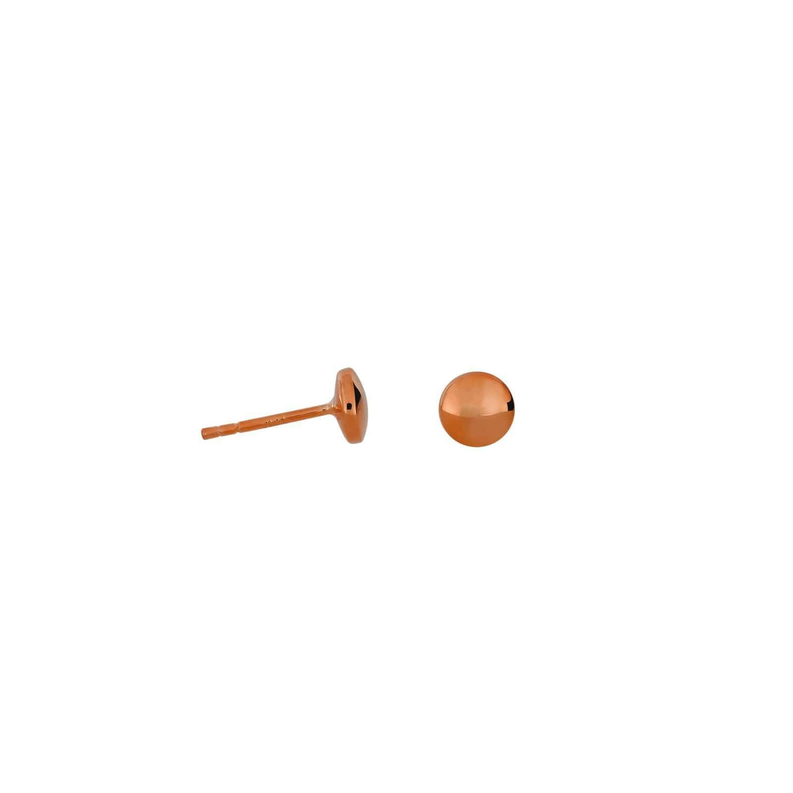 9mm / Rose Gold Vermeil Double Curved Button Stud Earrings - Rose Gold Vermeil