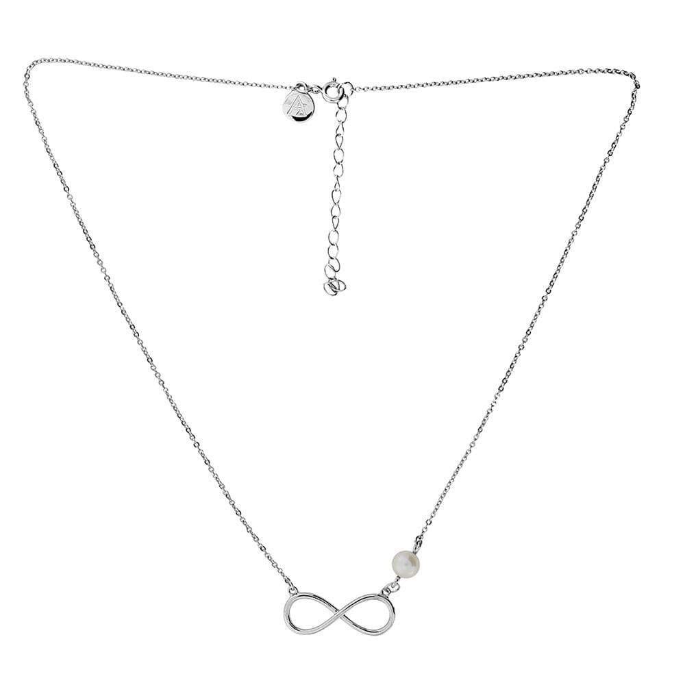 Asymmetric Pearl Infinity Necklace