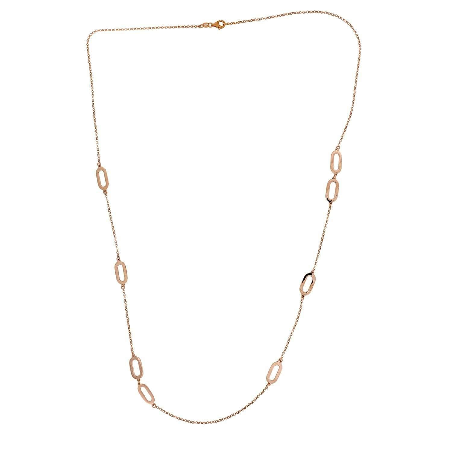 Calcaria Rose Gold Vermeil Long Necklace