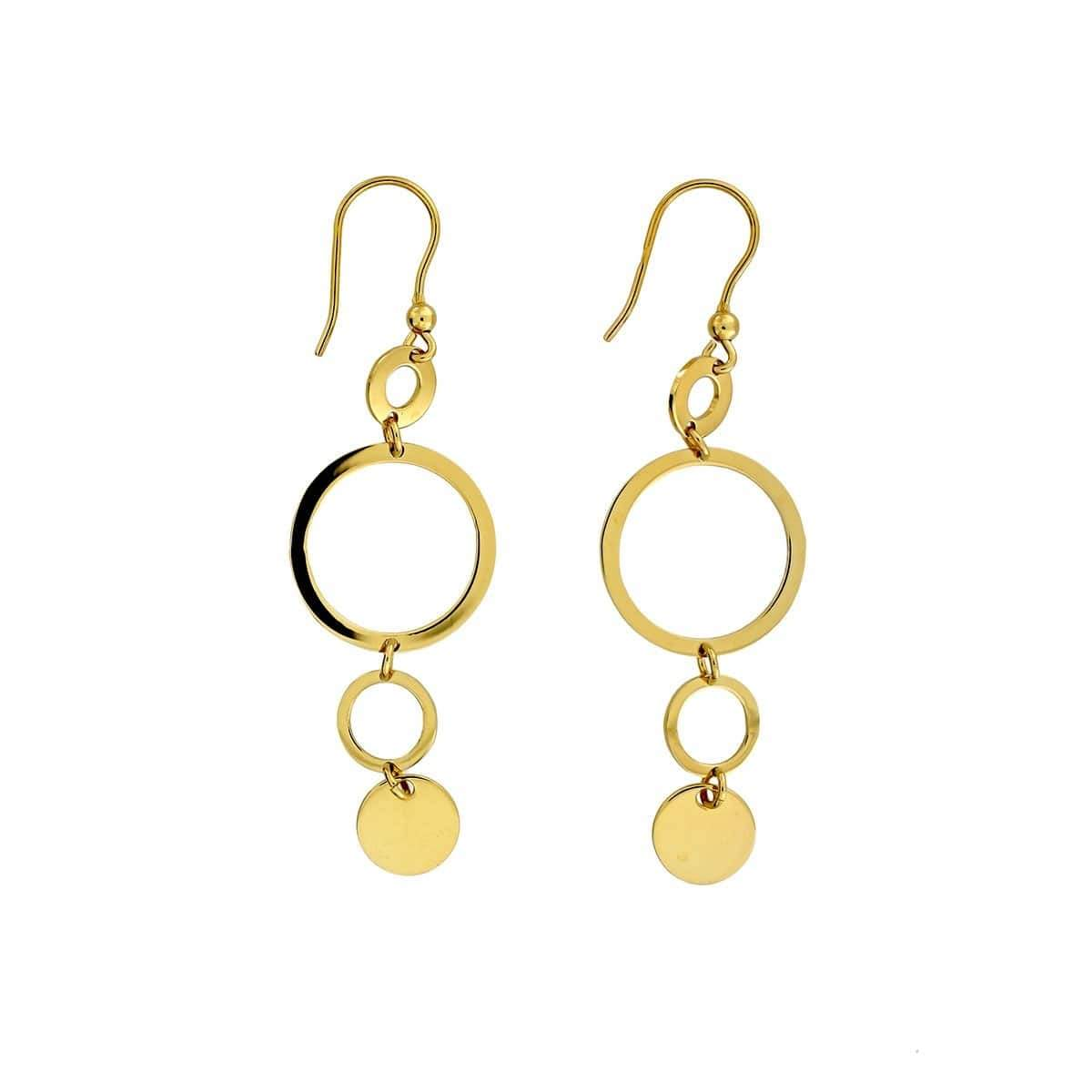 Coniston Gold Vermeil Drop Earrings