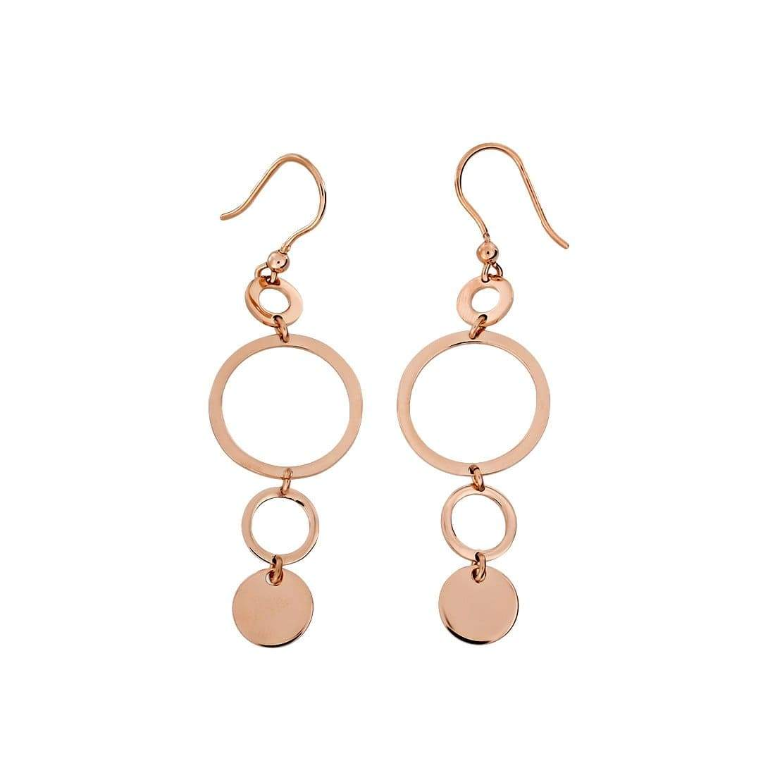 Coniston Rose Gold Vermeil Drop Earrings
