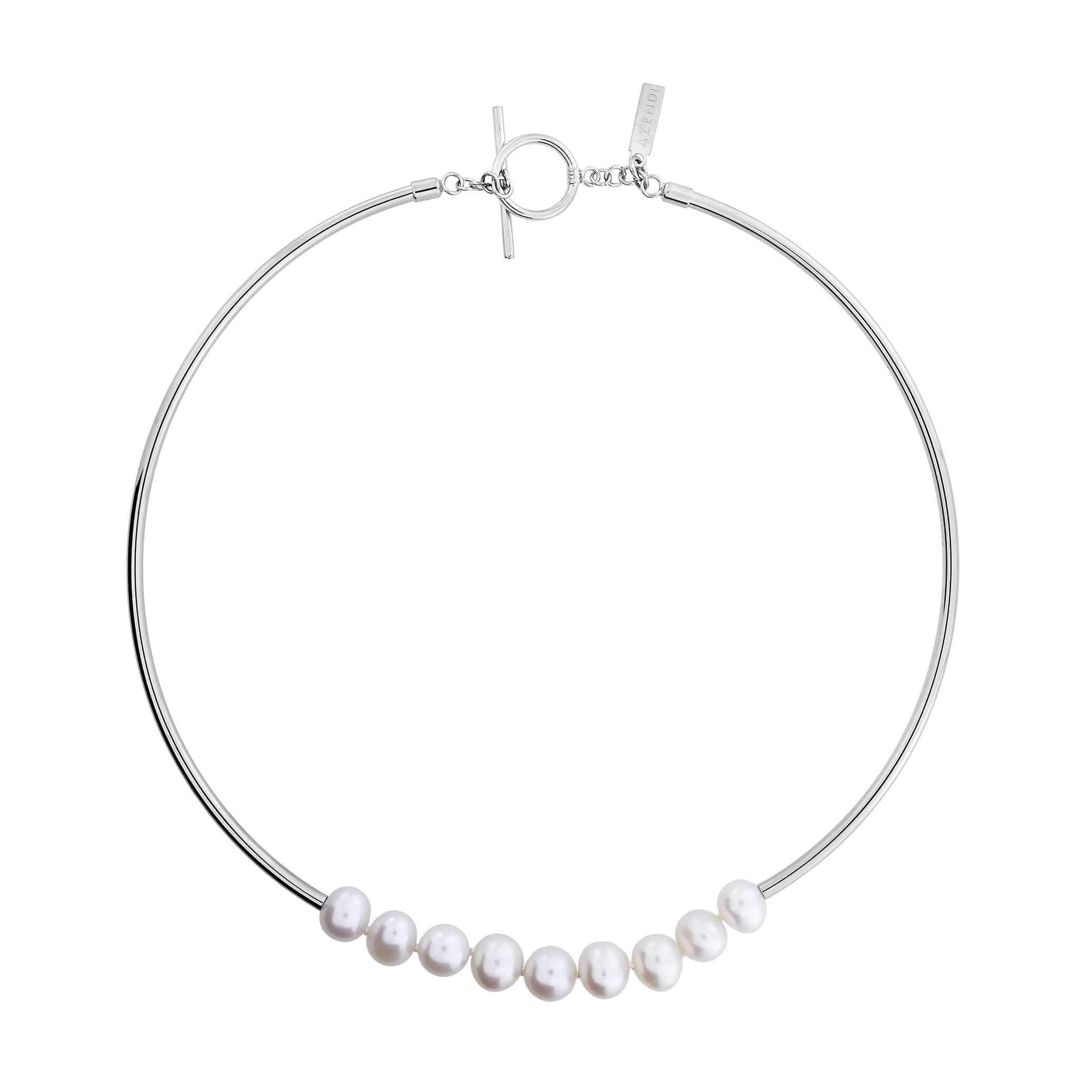 Freshwater Pearls T-Bar Necklace
