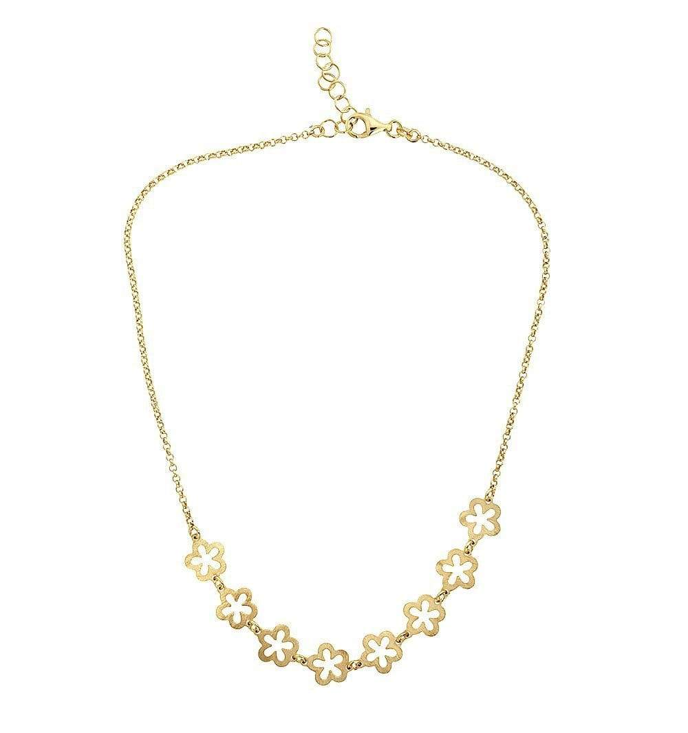 Gold Vermeil Flowers Necklace