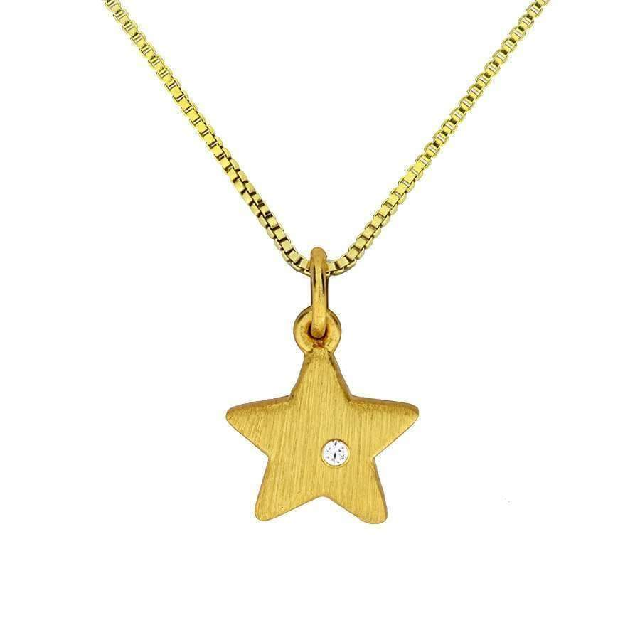 Gold Vermeil Satin Star Pendant