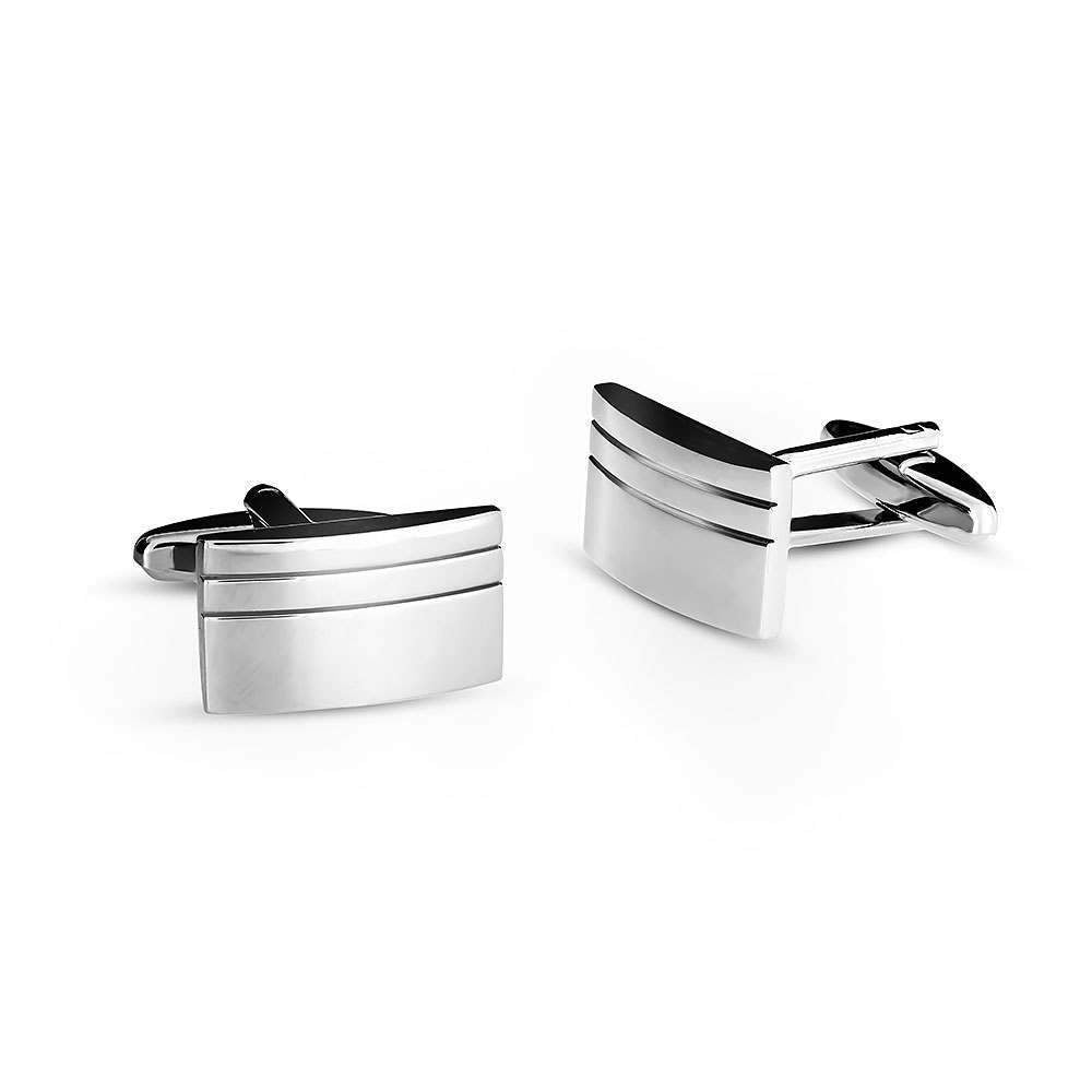 Grooved Rectangle Cufflinks
