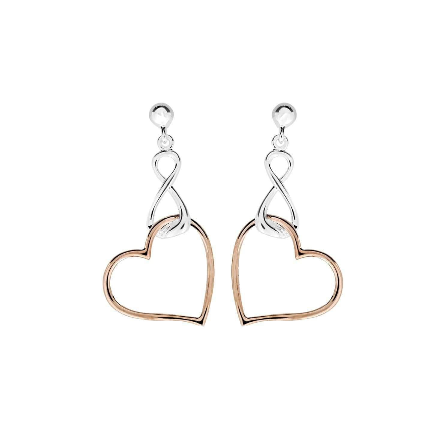 Heart Infinity Drop Earrings