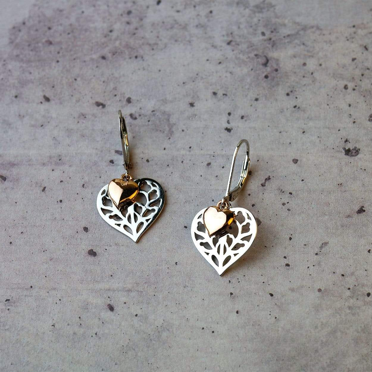 Heart of Yorkshire Double Drop Earring with Rose Gold Vermeil