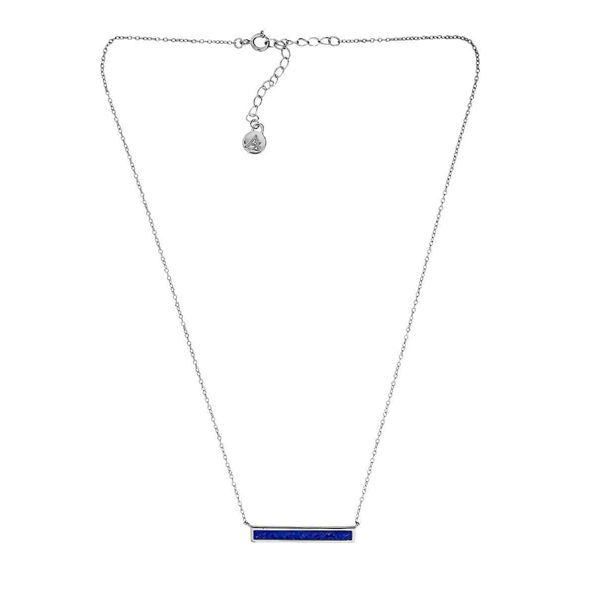 Horizon Bar Necklace in Blue Howlite