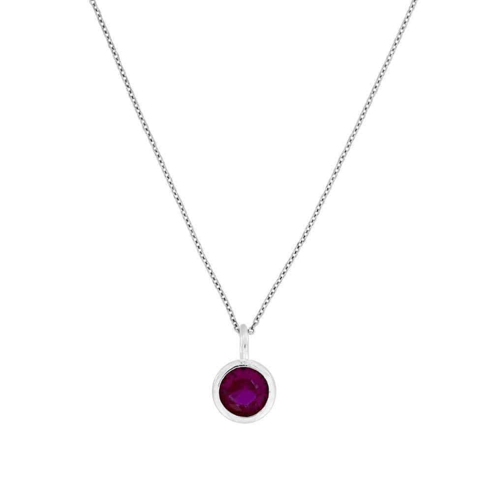 July Birthstone Pendant - Ruby