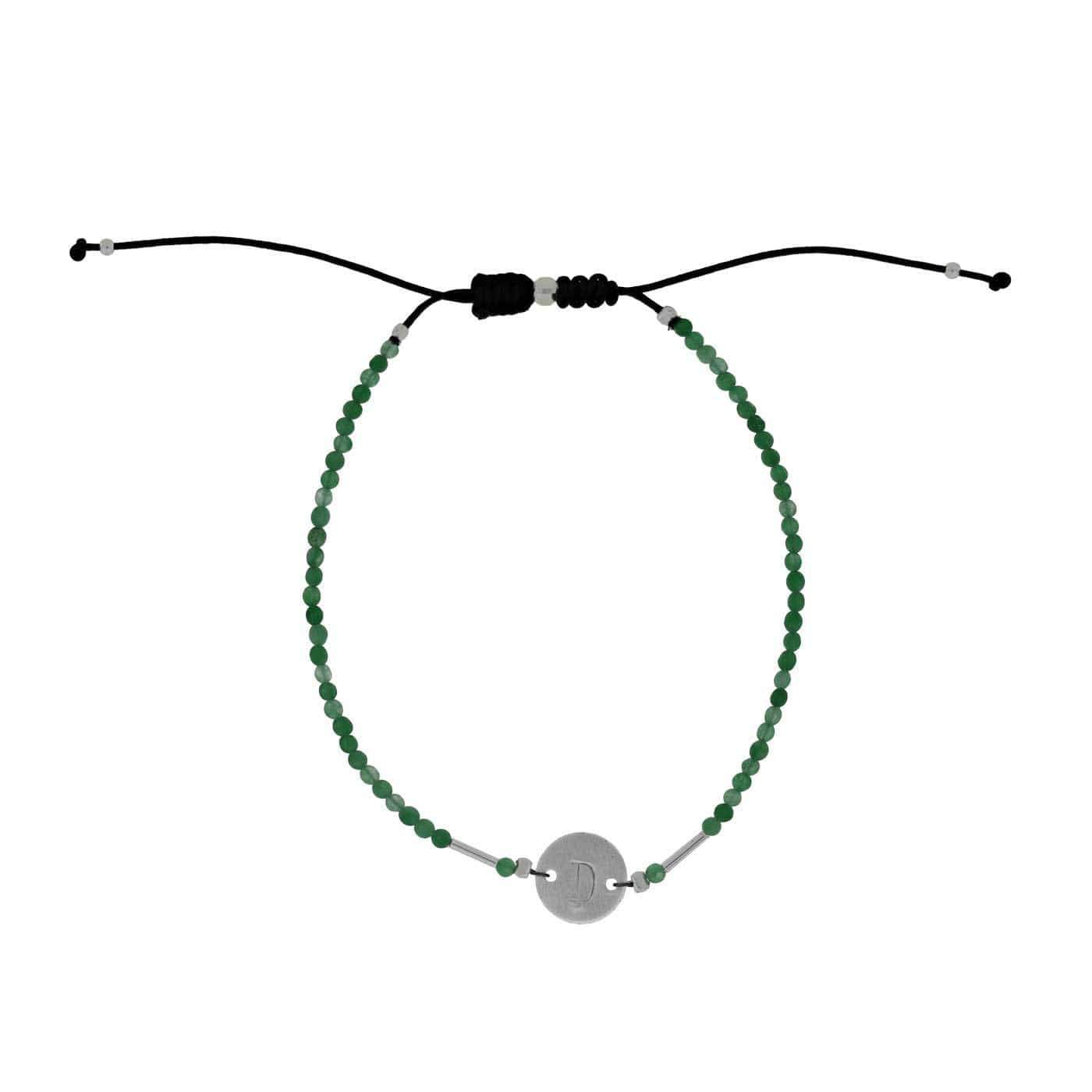 Letter D Gemstone Friendship Bracelet