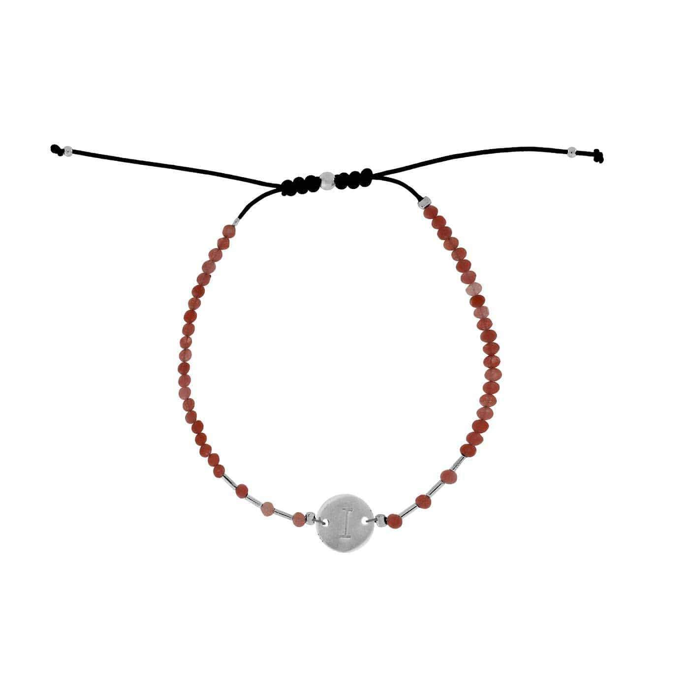 Letter I Gemstone Friendship Bracelet