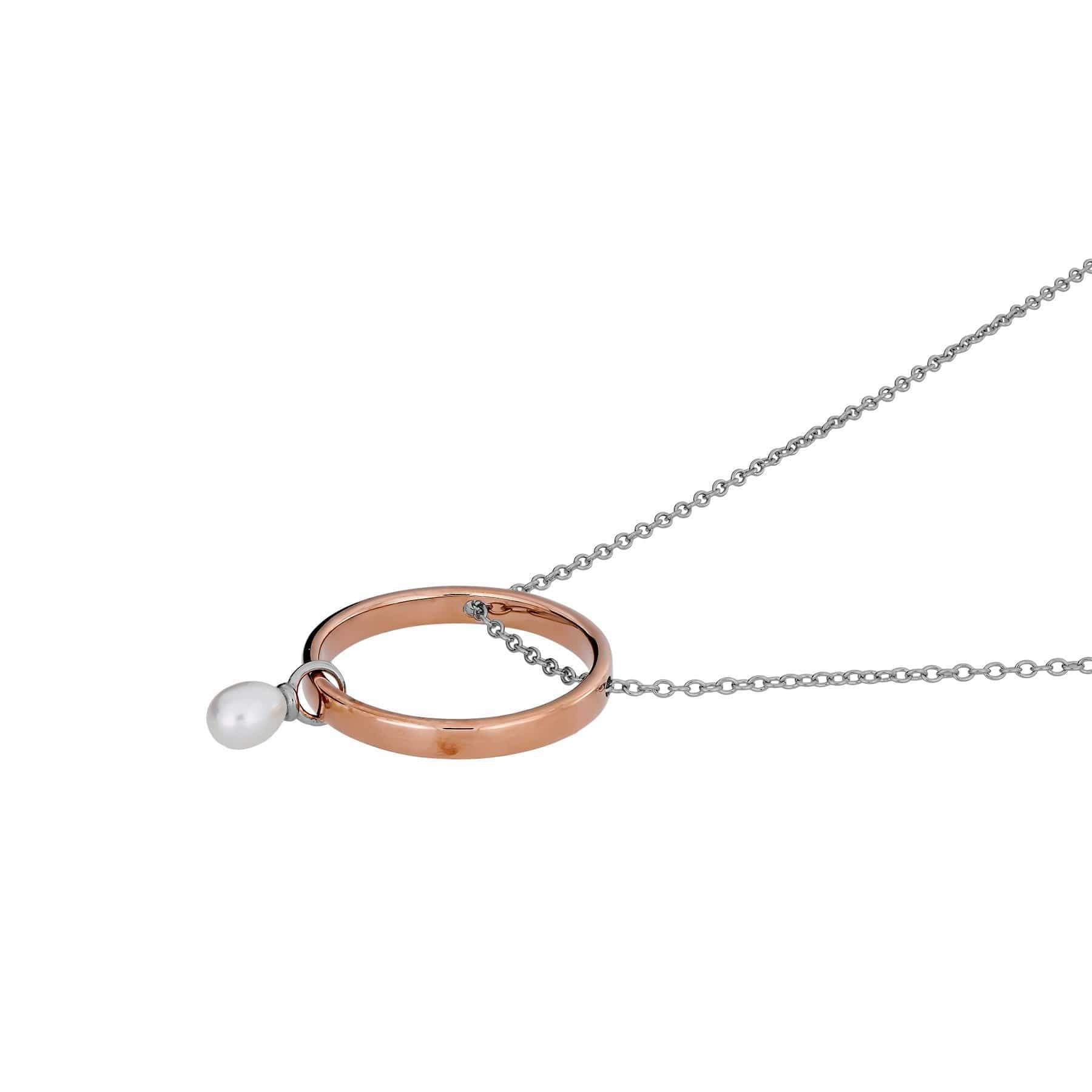 Metropolitan Threaded Circle Necklace with Pearl