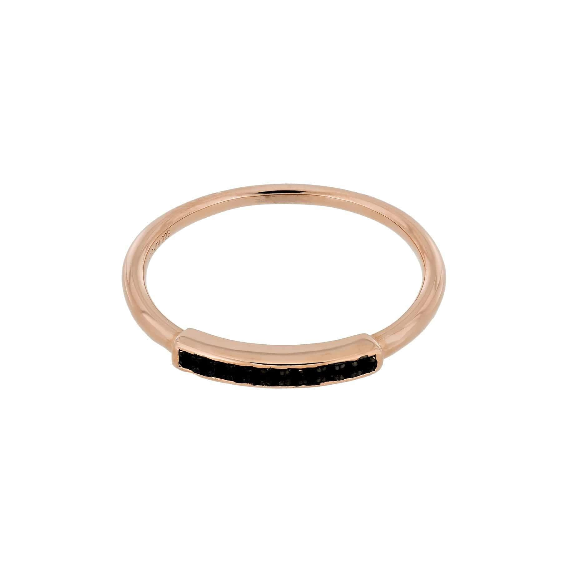 Midnight Rose Vermeil Bar Ring