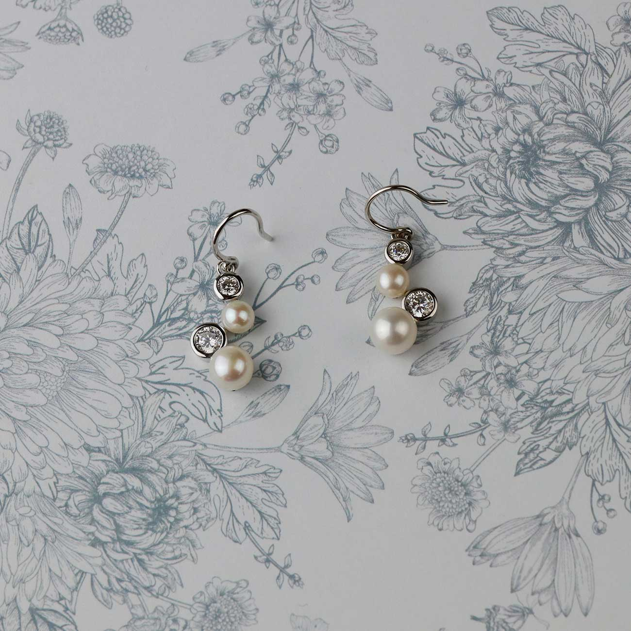 Pearl Cascade Drop Earrings