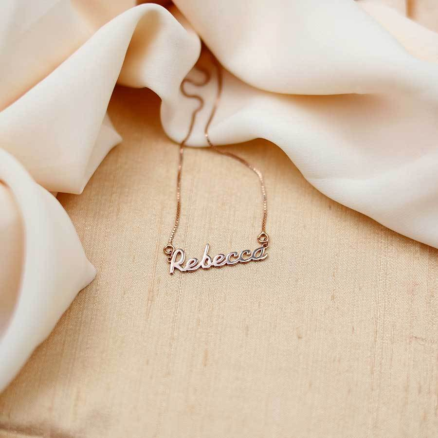 "Silver / 16"" Personalised Name Necklace - Made to Order"