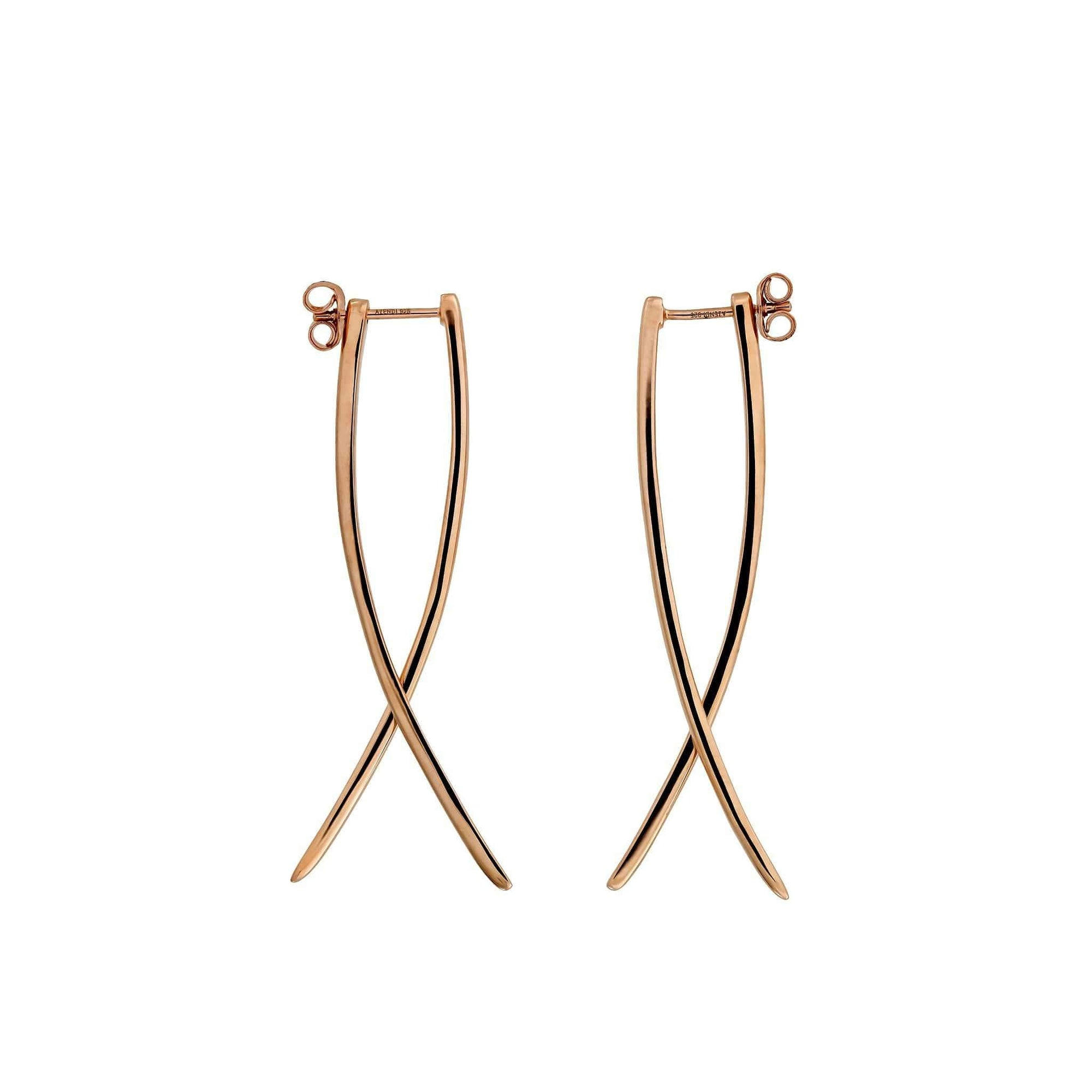 Rose Gold Vermeil Balanced Double Curl Earrings