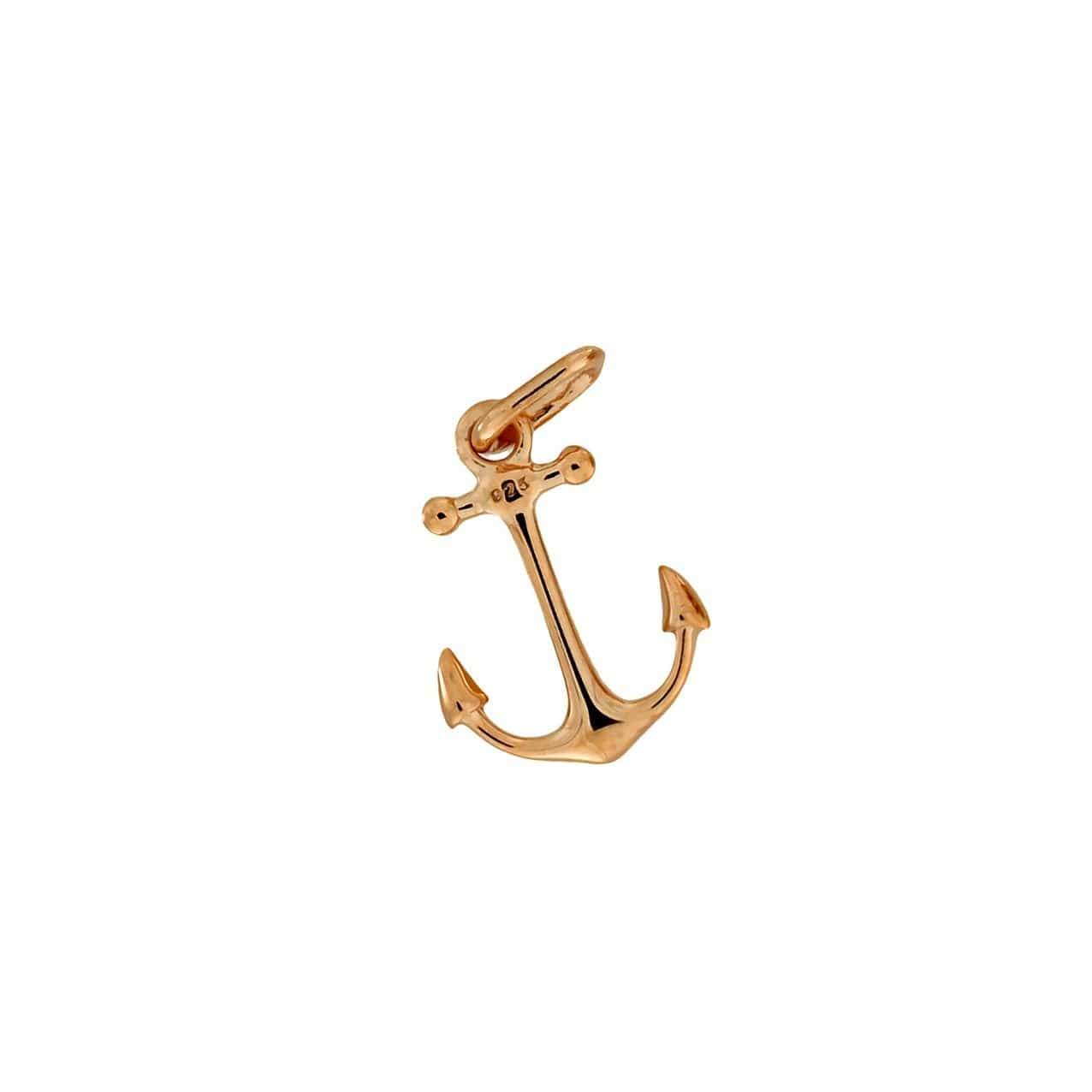 Rose Vermeil Anchor Charm