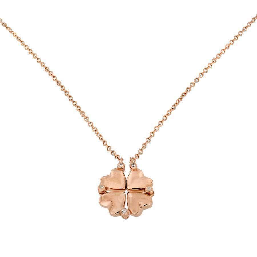 Rose Vermeil Hearts Two-Way Necklace