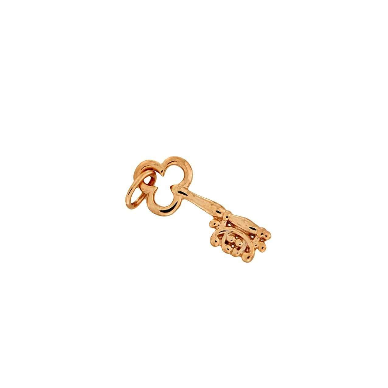 Rose Vermeil Key Charm