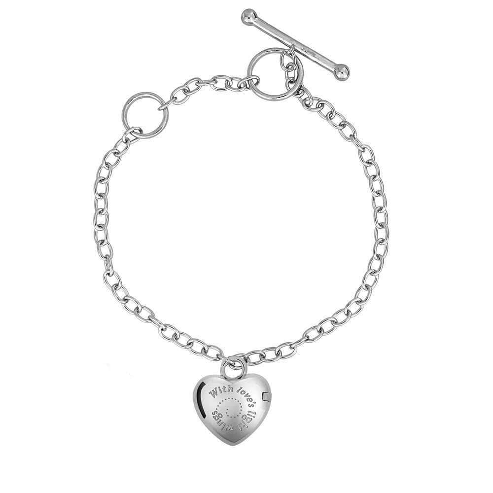 Silver Angel Wings Locket Charm Bracelet